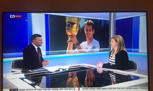 Our very own Wendy Skinner appeared live on Sky News at the weekend as a sports injury expert.